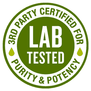 Lab Tested - 3rd Party Certified for Purity and Potency