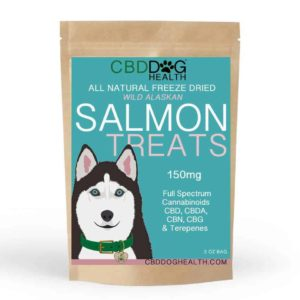 CBD Dog Health CBD Oil for Dogs Freeze Dried Salmon Treat