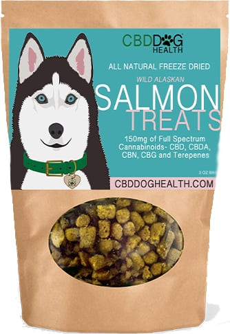 cbd dog health salmon treats