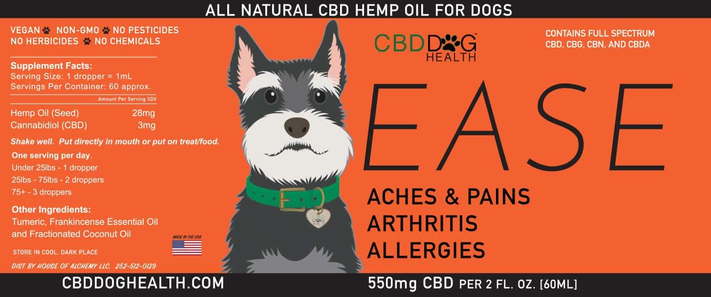 EASE - Full Spectrum Hemp CBD Oil for Dogs - Monthly Subscription