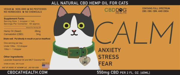 CALM CAT CBD OIL LABEL copy