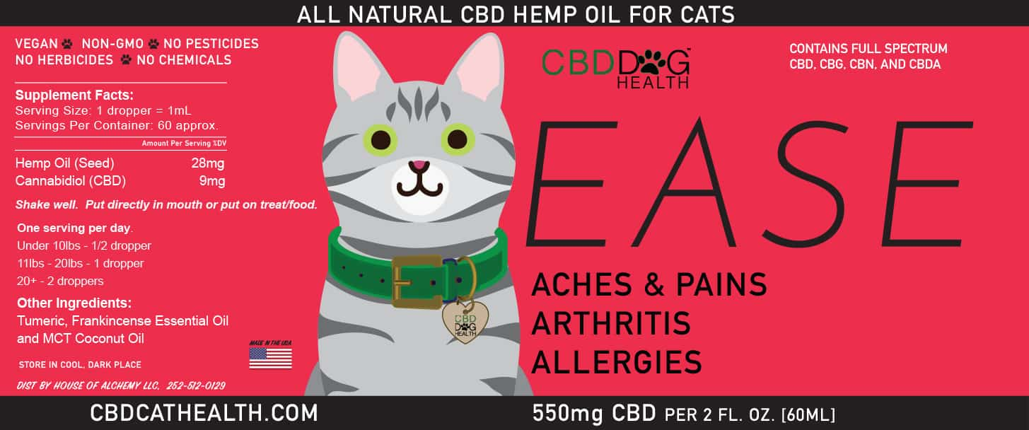 Ease Cbd Oil For Cats Cbd Dog Health