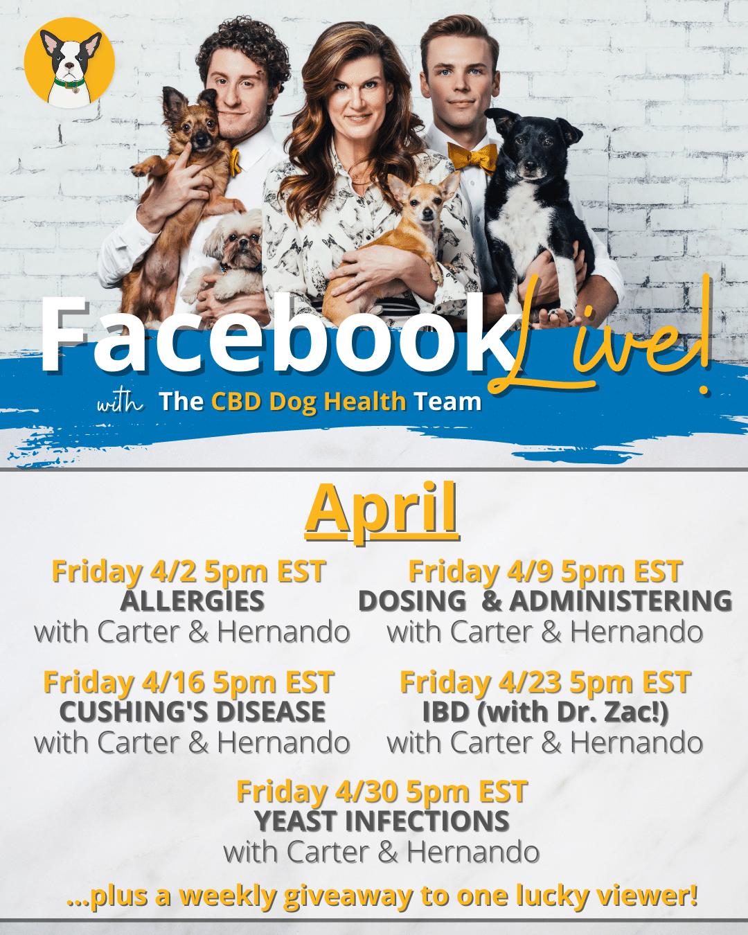 Facebook Live Schedule April