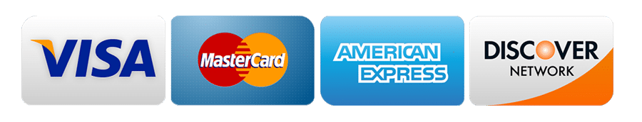Accepted payments: Visa, MasterCard, Discover, American Express
